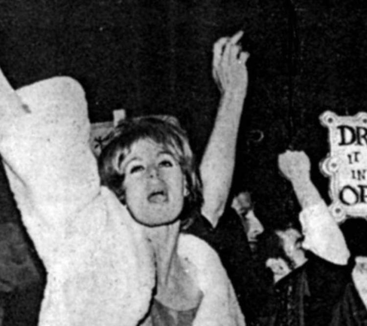 Trans protest scene from the 1960s.